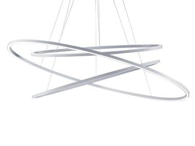 LED extruded aluminium pendant lamp ELLISSE TRIPLE | Pendant lamp