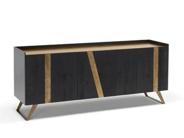 Oak sideboard with doors ELLY