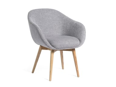 Fabric chair with armrests ELOA