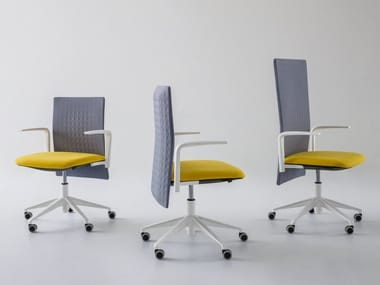 Height-adjustable task chair with 5-Spoke base ELODIE | Task chair