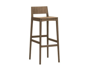 High wooden barstool ELSA | CONTRACT | Wooden stool