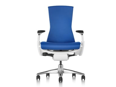 Ergonomic swivel office chair with castors EMBODY