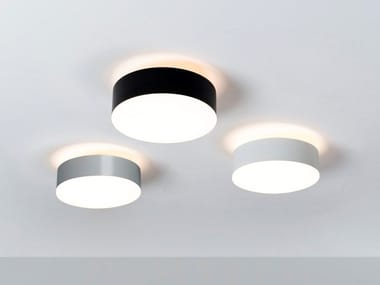 Ceiling lamp in steel and opal glass with dimmer EMBOSS