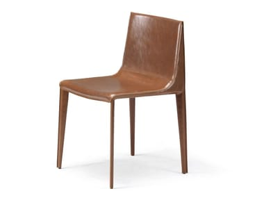 Tanned leather chair EMILY