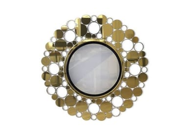 Round wall-mounted mirror EMILY | Wall-mounted mirror