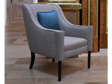 Fabric armchair with armrests EMMA