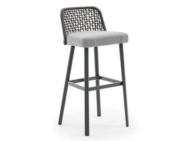 High garden stool with footrest EMMA | High stool
