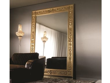 Freestanding rectangular framed mirror EMPEROR