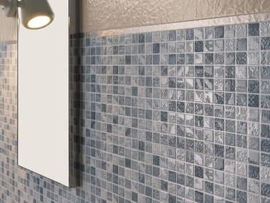 Mosaico in ceramica a pasta bianca EMPREINTE MOSAIC AZUR