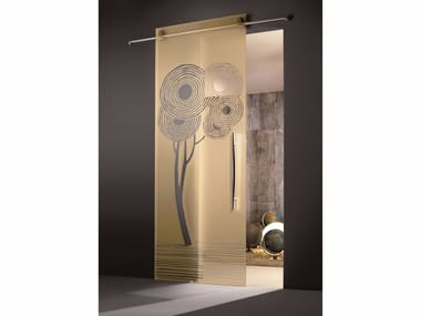 Glass sliding door ENALIOS CHAMPAGNE