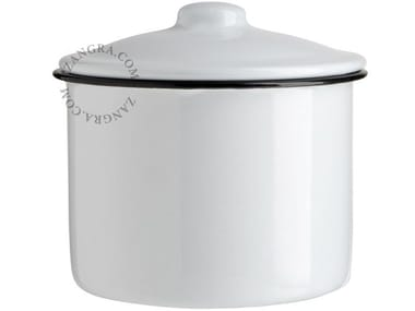 Enamelled metal sugar bowl ENAMEL SUGAR BOWL