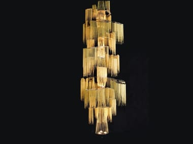 Chandelier SINGLE SPIRALLING TREE By Willowlamp