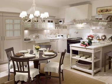 English Style Kitchen. Best Double Islands In This Beadboard White ...