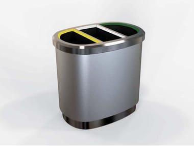 Galvanized steel litter bin for waste sorting EOLO | Litter bin for waste sorting