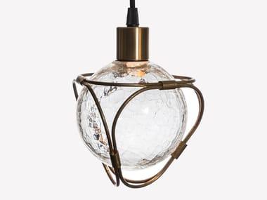 Lampada a sospensione a LED in vetro soffiato EON S1