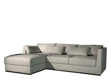 3 seater fabric sofa with chaise longue EOS | Sofa with chaise longue