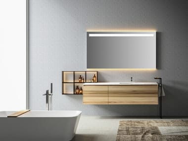 Single wall-mounted vanity unit with drawers EOS | Vanity unit