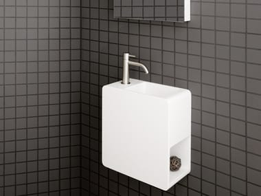 Wall-mounted Cristalplant® handrinse basin EPIC ONE