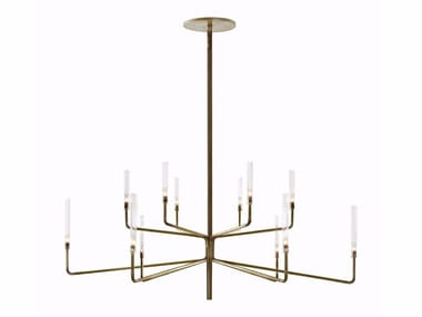 Brass chandelier with dimmer EPSILON