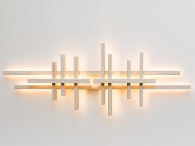 LED wooden wall lamp EQUILIBRIUM LONG
