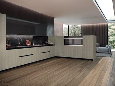 Cucina lineare con maniglie integrate ERA 02