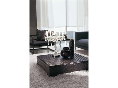 Tavolino quadrato in pelle da salotto ERCOLE TRECY | Tavolino