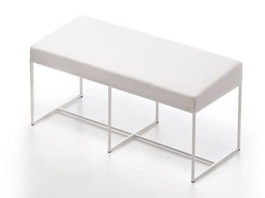 Upholstered steel bench ERGO BENCH H46