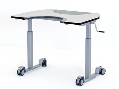 Height-adjustable writing desk with castors ERGO MULTI