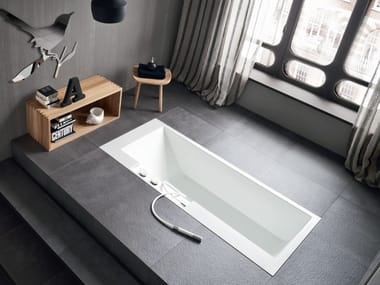 Rectangular Corian® bathtub ERGO-NOMIC | Built-in bathtub