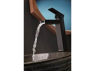 Single handle 1 hole washbasin mixer without waste ERGO OPEN | Washbasin mixer without waste