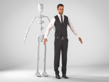 Photorealistic human 3D models ERIC RIGGED 001