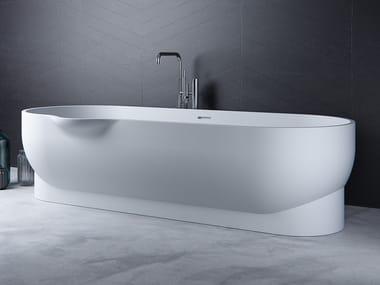 Vasca da bagno ovale in Meridian Solid Surface® EROSION-BT01