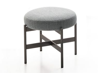 Upholstered fabric stool ERYS | Stool