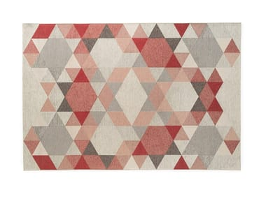 Rectangular rug with geometric shapes ESAGONO