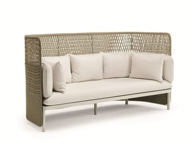 3 seater high-back garden sofa ESEDRA | High-back garden sofa