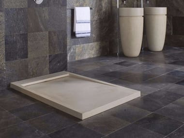 Rectangular natural stone shower tray ESSENCE
