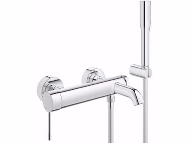 Wall-mounted bathtub mixer with hand shower ESSENCE NEW | Bathtub mixer with hand shower