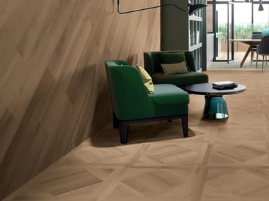 Porcelain stoneware wall/floor tiles with wood effect ESSENCES EXTRA WALNUT