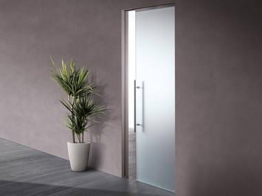 Contemporary style glass sliding door ESSENTIAL | Anta vetro