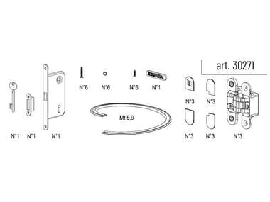 Accessori per montaggio telaio ESSENTIAL BATTENTE SINGOLA | Ferramenta