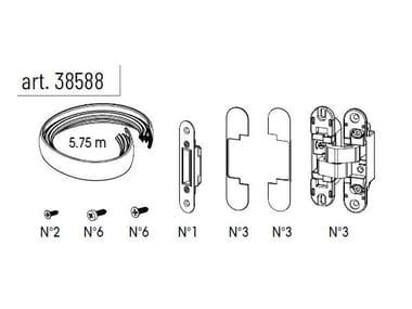 Ferramenta per montaggio ESSENTIAL BATTENTE VETRO MIRR | Kit Ferramenta