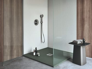 Square Silexpol® shower tray ESSENTIAL | Square shower tray