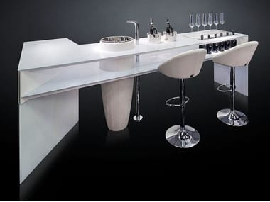 Tempered glass bar counter ESSENTIAL
