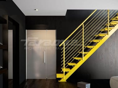 Straight aluminium Open staircase ESSENZA 1 | Aluminium Open staircase