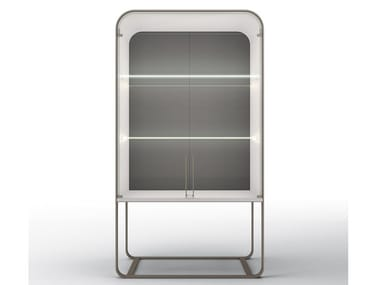 Metal display cabinet with integrated lighting ESTELLE