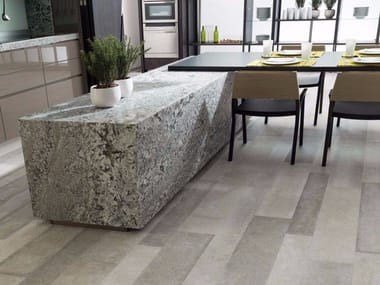 Indoor/outdoor porcelain stoneware flooring with stone effect ESTOCOLMO
