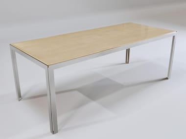 Rectangular stainless steel garden table ETERNITY #4 | Tavolo da giardino