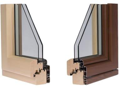 Finestra in alluminio e legno con doppio vetro ETERNITY