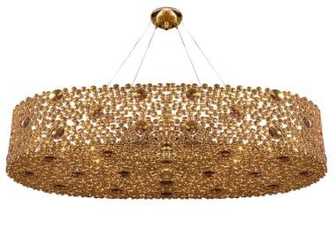 Indirect light brass pendant lamp ETERNITY IV