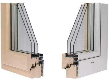 Aluminium and wood window ETERNITY PLAN